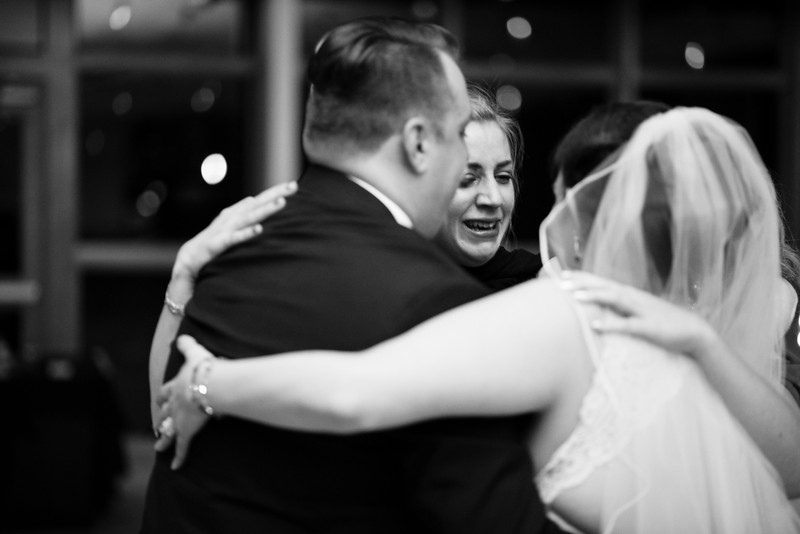 Addy & Max's Spring fun wedding reception in the Atrium at Danada House located in a forest preserve in Wheaton, a Chicago suburb.Wedding photographer– Ryan Davis Photography – Rockford, Illinois.