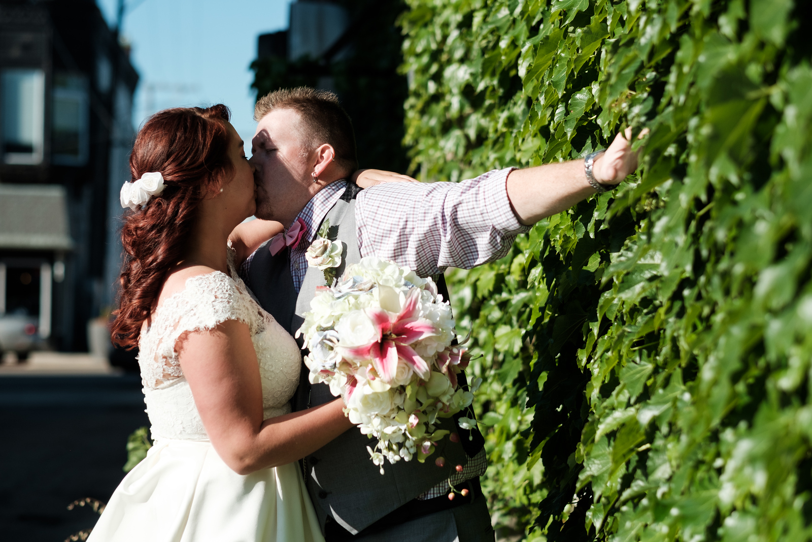 Amber & Jordan's Backayrd Wedding