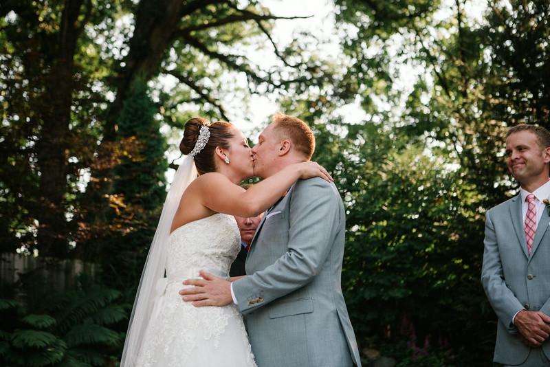 Ashley & Eli's outdoor wedding ceremony at Williams Tree Farm. Wedding photographer – Ryan Davis Photography – Rockford, Illinois.