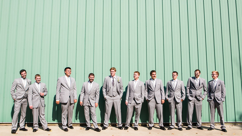 First Look, Bridal Party, and Family portraits, at Williams Tree Farm in Rockton, IL. Wedding photographer – Ryan Davis Photography – Rockford, Illinois.