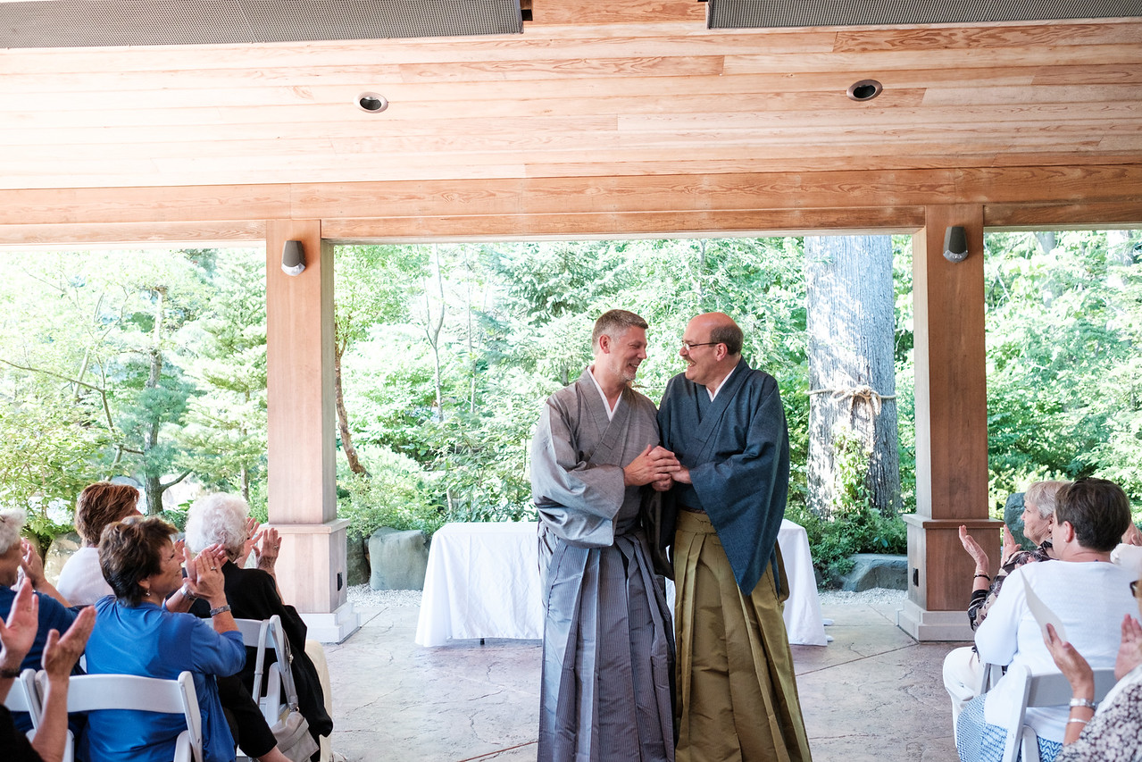 David & Michael's wedding at Anderson Japanese Gardens in Rockford, IL.