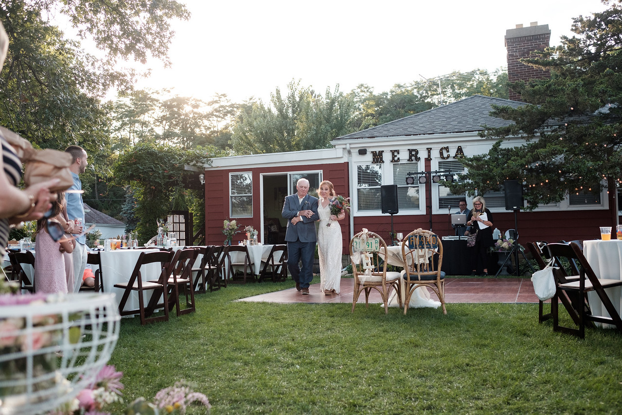 Erica & Michael's Backyard river wedding