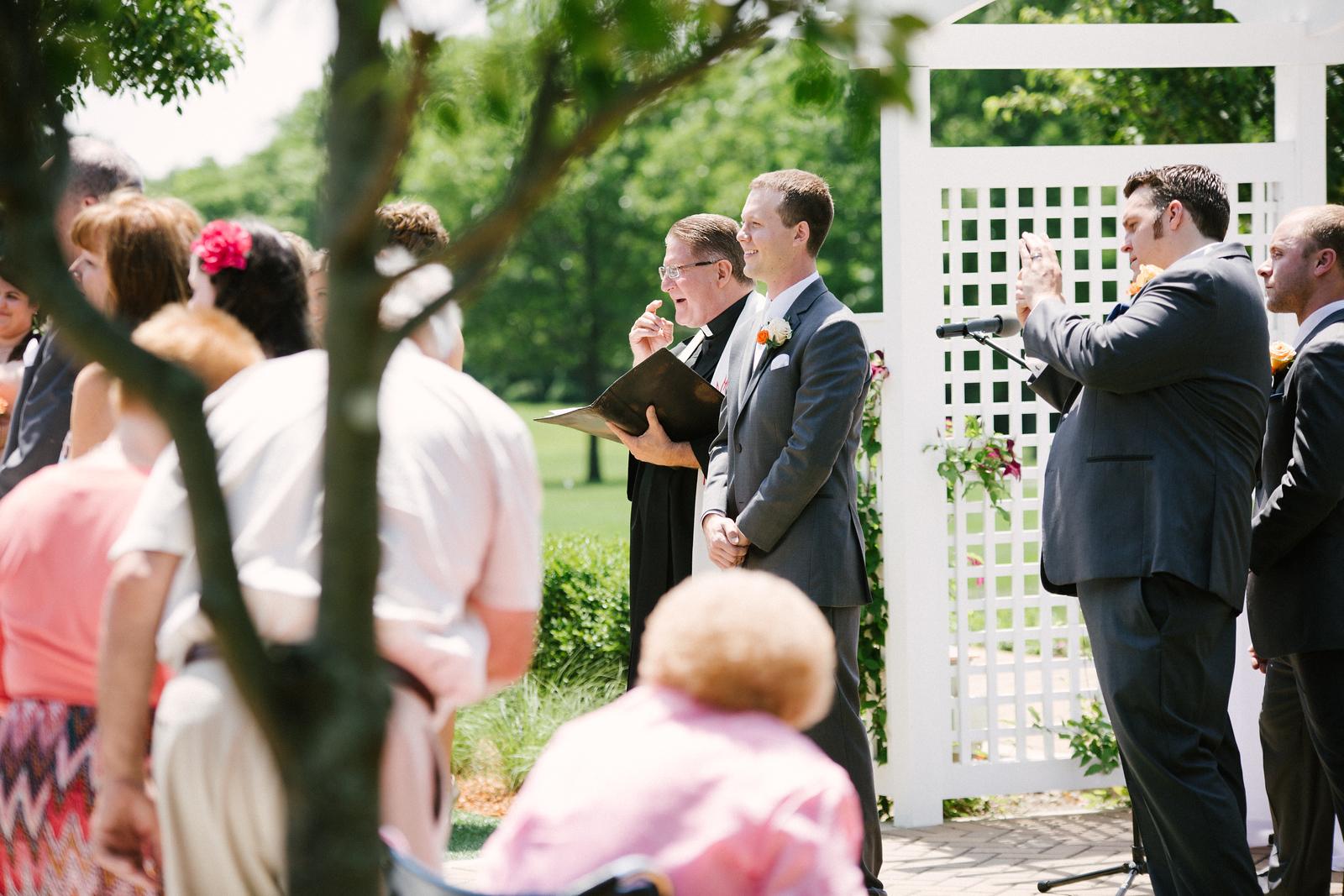 Danada House mansion outdoor garden wedding ceremony
