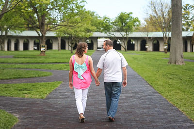 Jennifer & Tony's engagement session at Keeneland in Lexington, KY 4.26.15. © 2015 Love & Lenses Photography/ Becky Flanery www.loveandlenses.photography