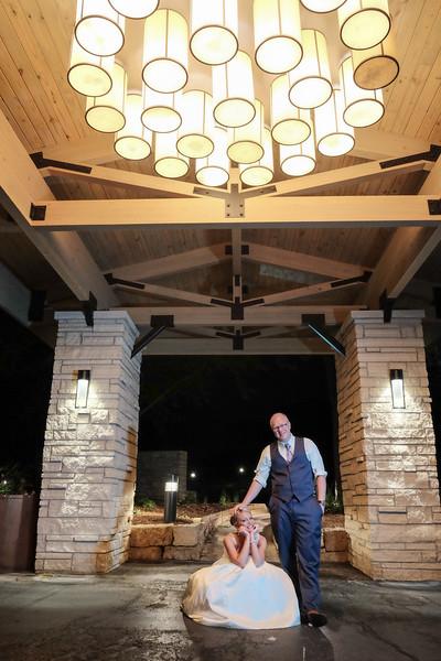 Karen & Ryan's fun reception in the Eagle Ballroom at Eagle Ridge Resort near Galena, IL– Wedding photographer; Ryan Davis Photography – Rockford, Illinois.