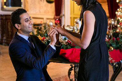 Neha & Roheen's proposal at the Castle Post in Versailles, KY 12.24.16.  © 2016 Love & Lenses Photography/ Becky Flanery   www.loveandlenses.photography