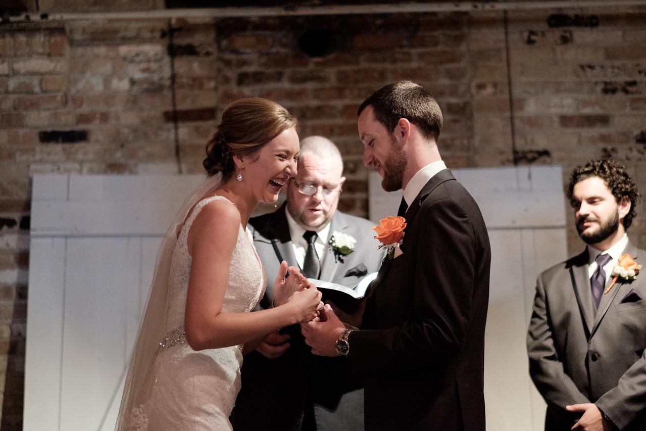 Prairie St. Brewhouse Malt Room Wedding Ceremony