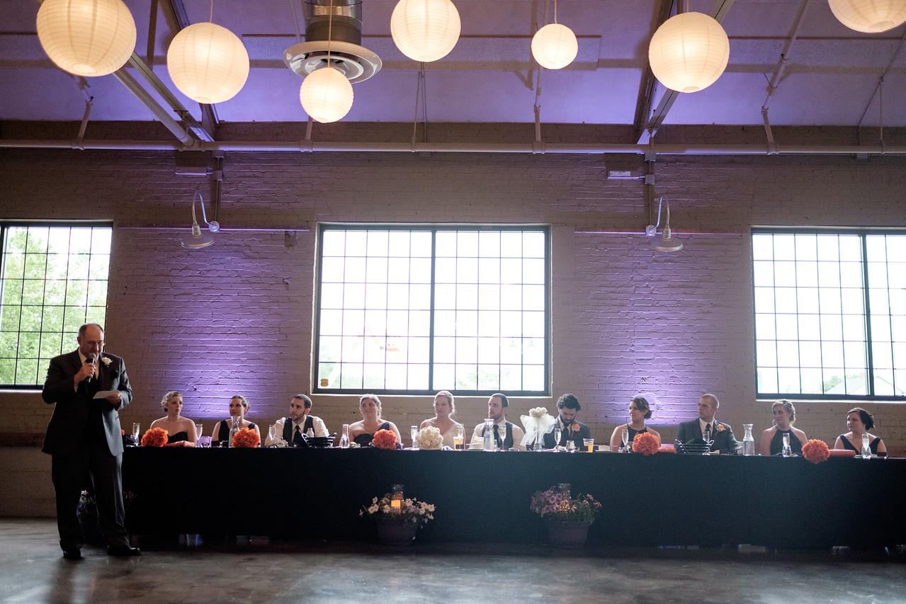 Prairie St. Brewhouse Barrel Room Wedding Reception