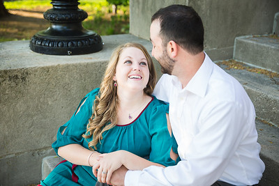 Sarah & Dan's engagement session at Victorian Square & Gratz Park in Lexington, KY 5.3.15.  © 2015 Love & Lenses Photography/ Becky Flanery   www.loveandlenses.photography