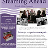 "FEATURED WORK: ""David Hodgson, photographer"" and ""Mary Habstritt, Director, Lilac Steamboat Museum""<br /> <br /> Steaming Ahead, Friends of Lilac Newsletter<br /> <br /> The two black-and-white portraits appear in the October/November 2010 issue of Steaming Ahead, the newsletter of the Friends of Lilac preservation advocacy group. They accompany a feature article about the photography exhibit, ""Pathways in Water and Steel,"" that was mounted aboard New York City's historic Lilac steamboat in its Hudson River dock at Pier 40."