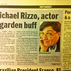"FEATURED WORK: ""Michael Charles Rizzo""<br /> <br /> Portrait featured in the New York Daily News, Obituaries, ""Michael Rizzo, actor & garden buff,"" Monday, July 4, 2011."