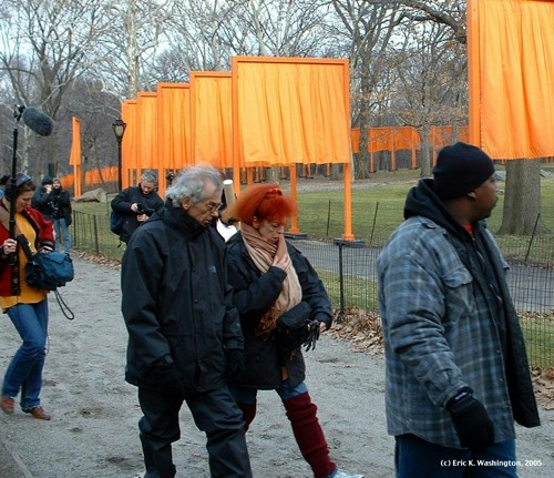 FEATURED WORK: Christo & Jeanne-Claude at The Gates of Central Park<br /> Published in 2005 Annual Report of the Municipal Art Society of New York City.