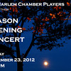 "FEATURED PHOTO: ""Moon over Sugar Hill, Harlem,"" promotional poster for the Music at St. Mary's-Harlem Chamber Players, Season Opening Concert, Sunday, September 23, 2012."