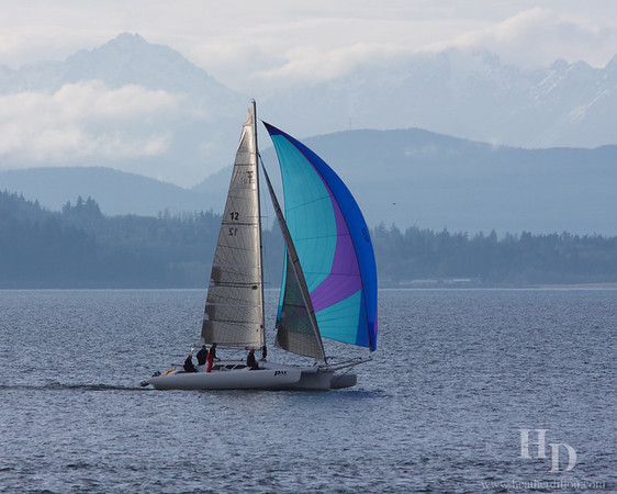 Sailing near Duwamish head.