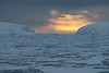 Pack Ice at Midnight in the Antarctic