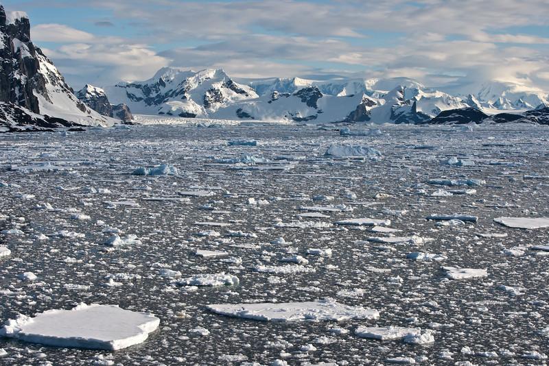 Brash Ice off Booth Island