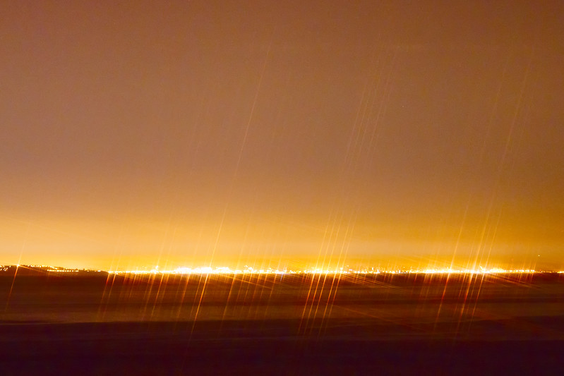 Later that night, we went out for some night shots. It was around 10:30. These are the lights of greater Los Angeles, 22 miles away.