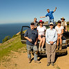 Our group from left to right: me, Steve, Victoria, Maria (front), Marc (rear), Martha, Jack (our guide)<br /> Notice we no longer have the jeep. That's another story.