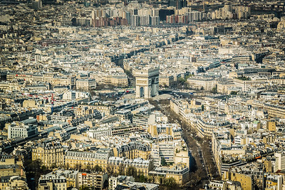 Arc de Triomphe from the Eifel Tower