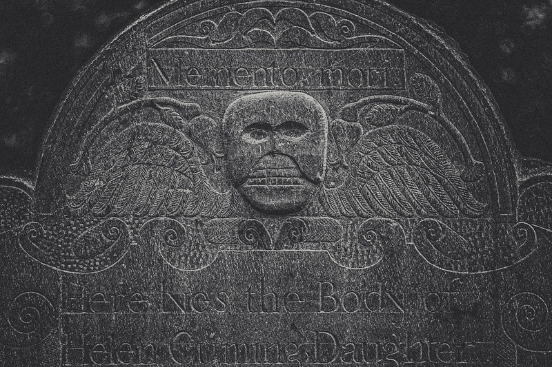 New England Funerary Art: Memento Mori, c. 1788. Old Burial Ground Hill, Concord, Middlesex County, Massachusetts