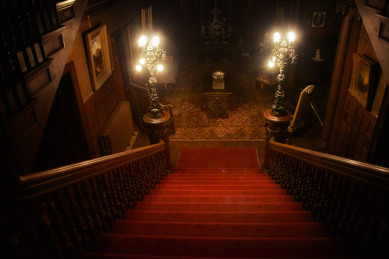Main Staircase at Night, Rockcliffe Mansion