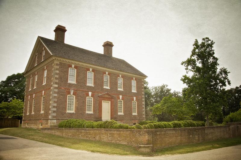 Colonial Era Architecture: Nelson House, c. 1730, Colonial National Historic Park, Yorktown Battlefield, Yorktown, York County, Virginia