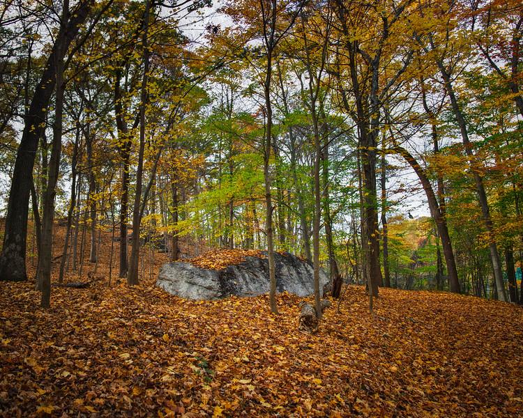 Sleepy Hollow Landscapes: Spook Rock in Fall. Rockefeller State Park Preserve, Sleepy Hollow, Pleasantville, Westchester County, New York