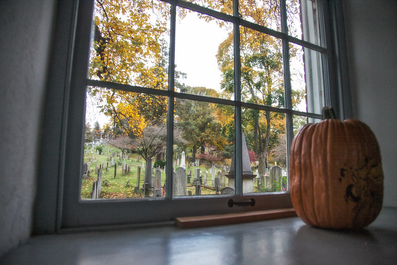 Legend of Sleepy Hollow Setting: View of the Burial Ground from the Old Dutch Church Which Inspired Washington Irving's Story, Westchester County, New York