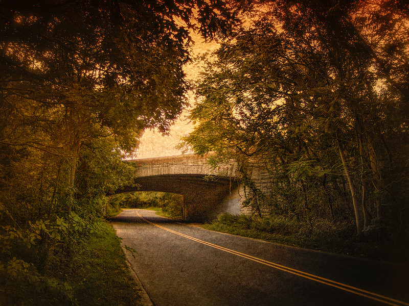 The overpass of Northern State Parkway, Sweeet Hollow Road, Long Island