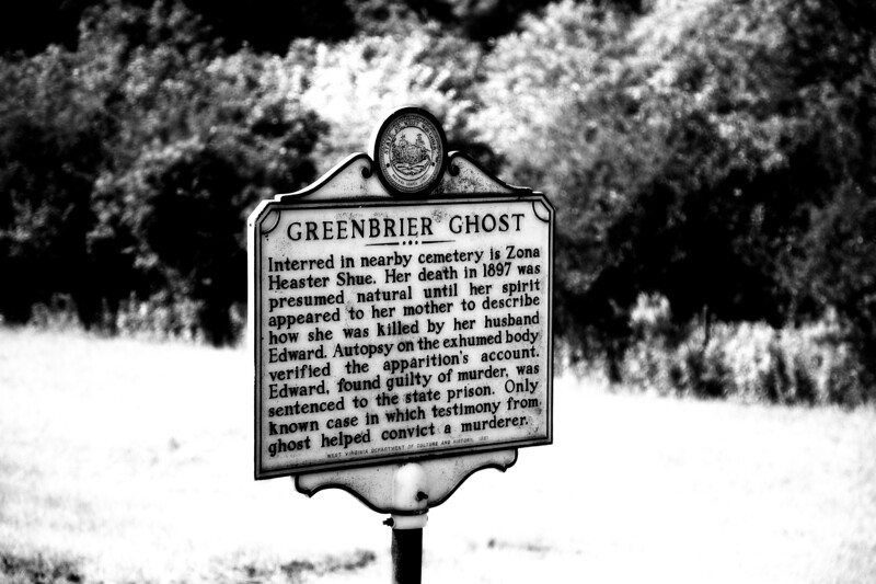 Haunted Landmarks: Memorial for Vona Heaster Shue, The Greenbrier Ghost, Greenbrier County, West Virginia