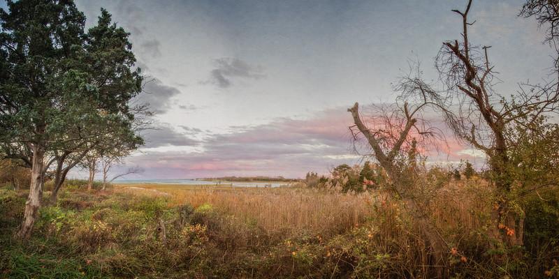Cape Cod Landscapes: Sunset over Massachusetts Bay, Barnstable, Cape Cod, Massachusetts