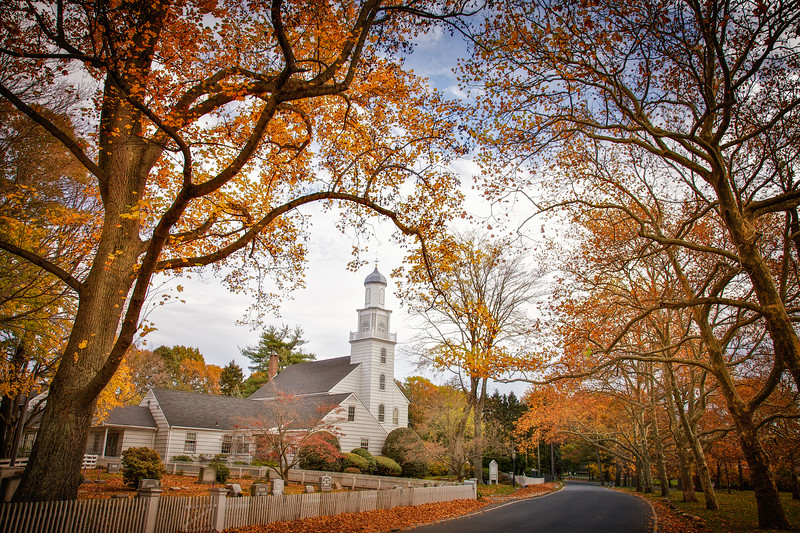 Setauket Presbyterian Church, c. 1812, East Setauket, Suffolk County, Long Island, New York #fallfoliage #autumn #longisland