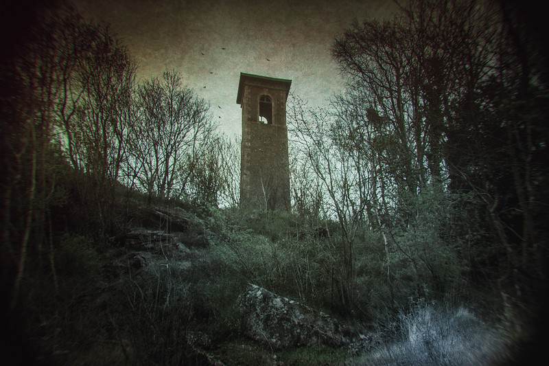 According to legend, a young Gypsy girl was locked in the tower without food or water and left to die. Known as Sally in the Woods, ghost stories abound of her in the area. 1845, built by Colonel Wade Browne, the squire of Monkton Farleigh Manor. Bathford, Somerset, Great Britain