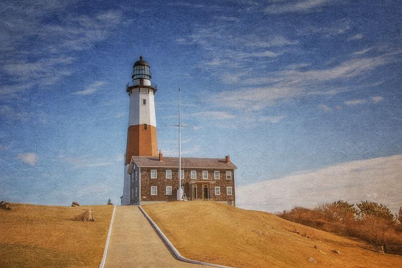 Montauk Point Lighthouse, c. 1796, Montauk, Suffolk County, Long Island, New York