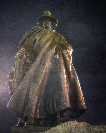 New England Landmarks: The Puritan, Statue of Roger Conant, Salem, Essex County, Massachusetts