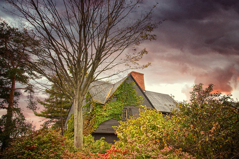 Colonial Era Architecture: Hooper-Hathaway House, c. 1682, The House of Seven Gables Settlement,Turner-Ingersoll Mansion, Salem, Essex County, Massachusetts