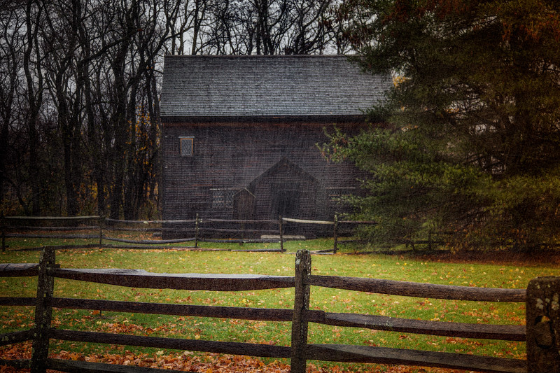 Salem Witch Hunt Locations: Reconstruction of the Salem Village Meetinghouse for Three Soverigns for Sarah, The Rebecca Nurse Homestead. Danvers, Formerly Salem Village, Essex County, Massachusetts