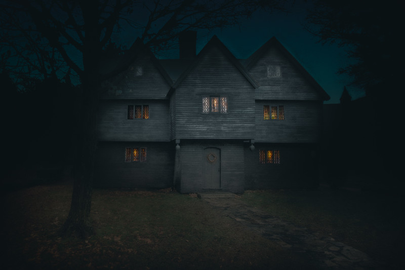 The Witch House, Home of Jonathan Corwin, c. 1675. Salem, Essex County, Massachusetts