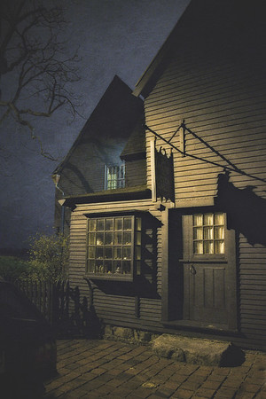 Colonial Era Architecture. The House of Seven Gables House of the Seven Gables (Turner-Ingersoll Mansion) at Night, 1668. Salem, Essex County, Massachusetts