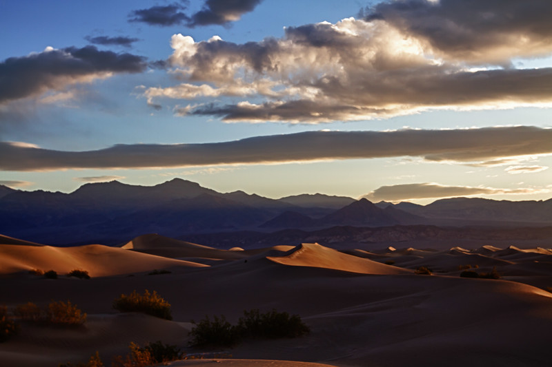 Mesquite Flat Sand Dunes....Sunrise; depending on the direction you look, the shadows vary the scene dramatically.