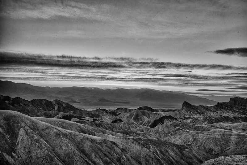 Similar photo of mountain range from Zabriskie Point, but I wanted to try it in B&W. Do you like it?