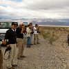Our group stops on the side of the road to view another sandstorm.....see next photo.