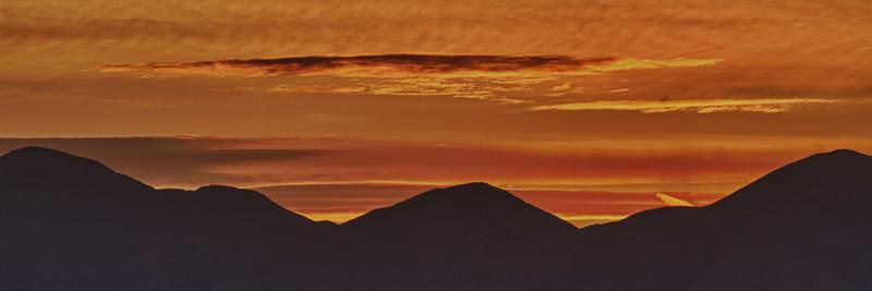 Sunset a Zabriskie Point.