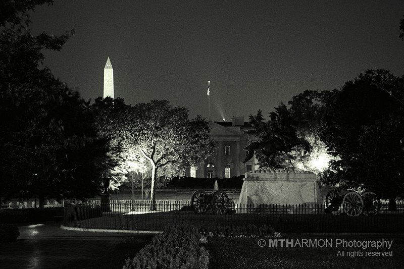 The White House at night. (Washington, DC)
