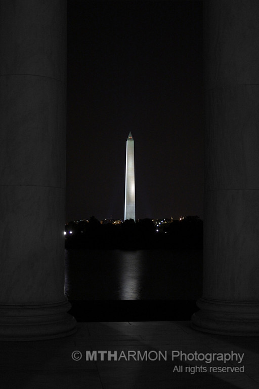 View of the Washington Monument from the Jefferson Memorial. (Washington, DC)