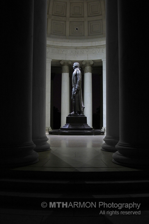 Jefferson Memorial at night.  (Washington, DC)