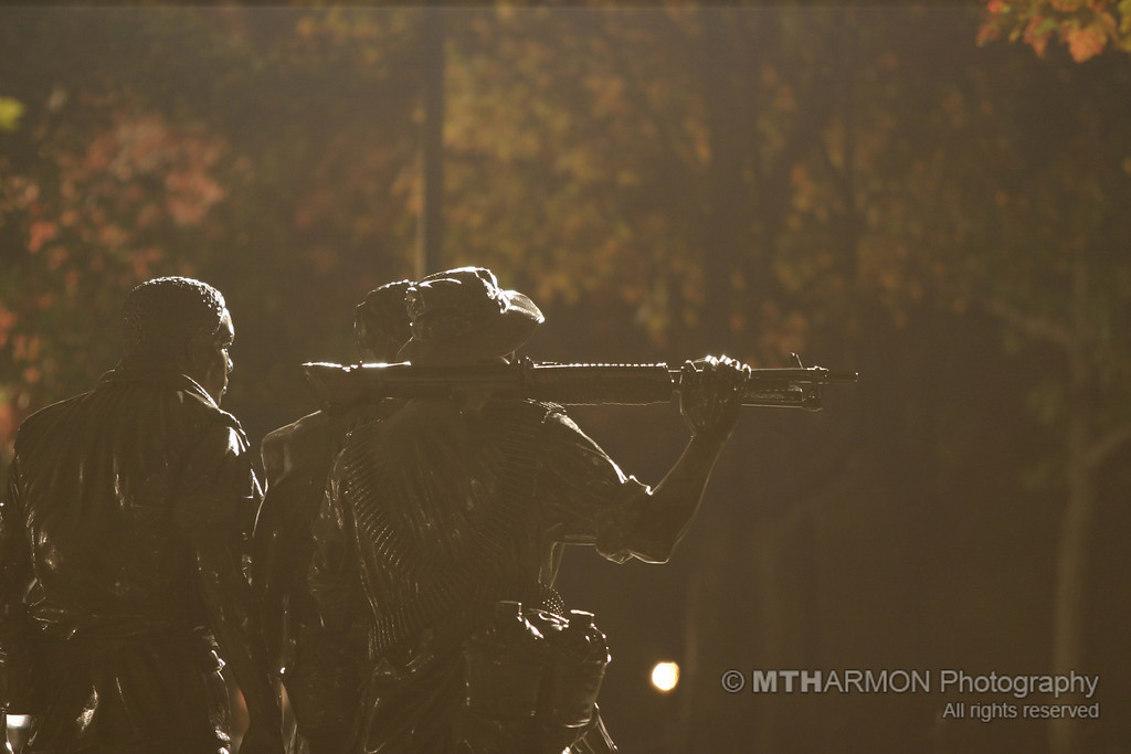 Vietnam Memorial at night.  (Washington, DC)