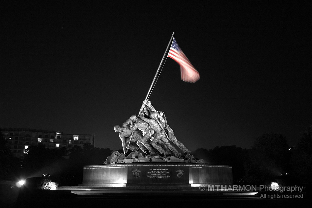 Iwo Jima Memorial.  (Washington, DC)