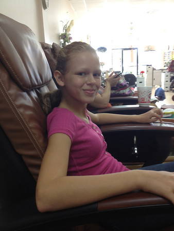 Sierra's birthday pedicure