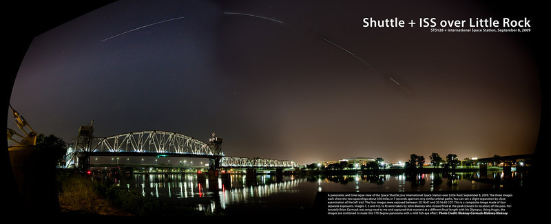 STS128 + ISS over Little Rock